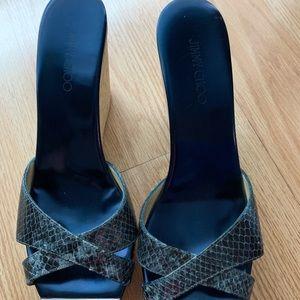Jimmy Choo wedged Cork heel!'
